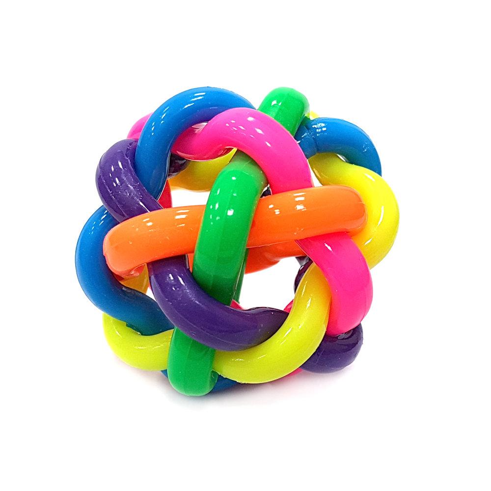 Мяч Haiyuanquan Разноцветная плетёнка 6.5 см.