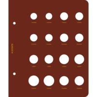 Лист на 16 монет в альбом - Монеты РФ регулярного выпуска с 1997 года. Серия - по годам. Альбо Нумис