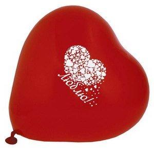 Воздушные шары ACTION! API0074/M сердечки разноцветные I LOVE YOU 50шт