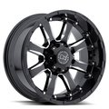 Диск BLACK RHINO Sierra 9x18/8x165 D120 ET-12 Gloss Black Mirror Machine Cut Lip - фото 1
