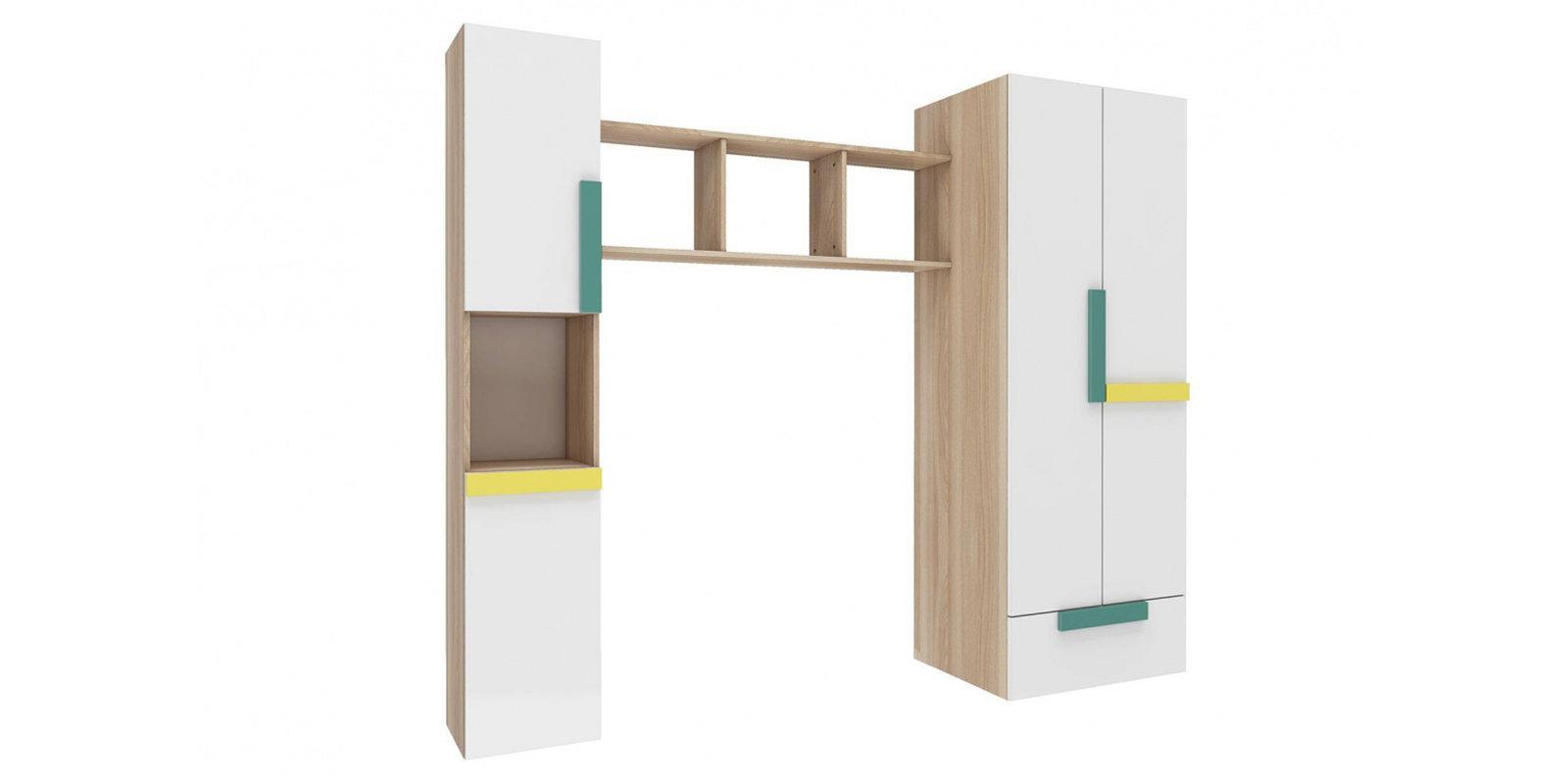 Шкаф распашной двухдверный HomeMe Акварель