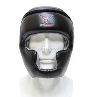 Шлем с защитой скул и подбородка Спортфайтер - чёрный