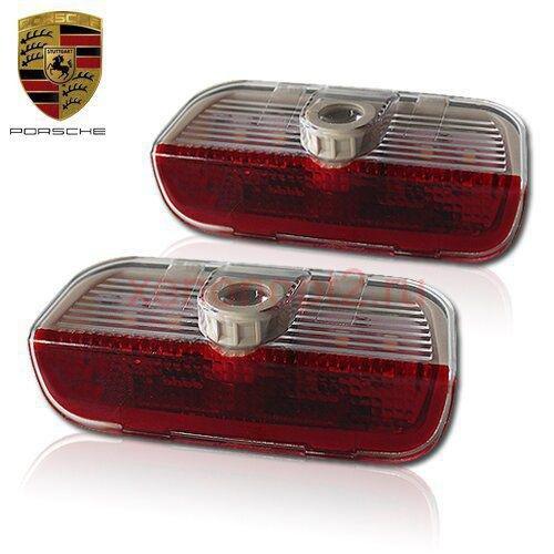 Светодиодная подсветка дверей Optima Premium с логотипом PORSCHE CAYENNE в штатное место