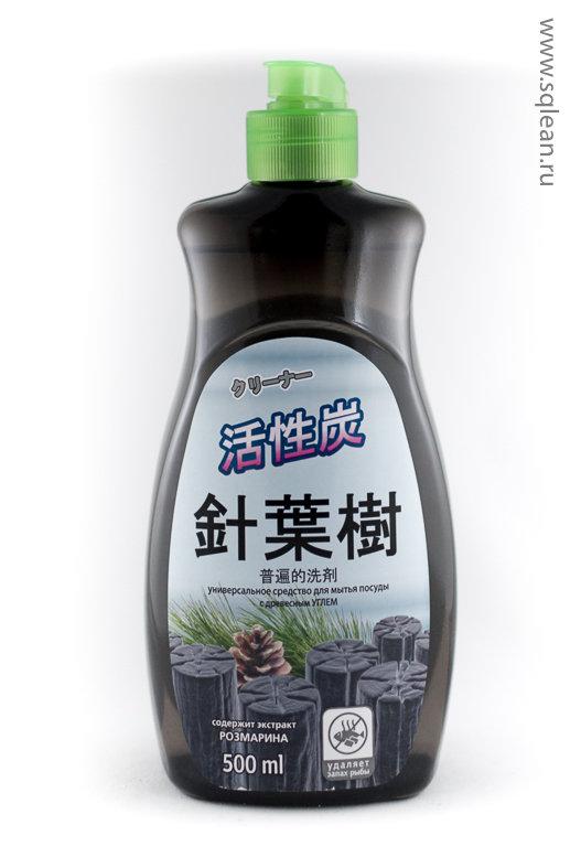 Scrubman Японская серия. Средство для мытья посуды с древесным углем на натуральных компонентах.