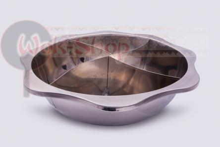 Большая кастрюля (4 секции) для китайского самовара Хого (Hot Pot) 38 см