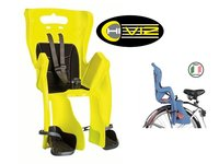 Заднее велокресло BELLELLI 0-280236 на подседельный штырь Little Duck Hi-Viz, светоотражающее до 7лет/22кг TUV