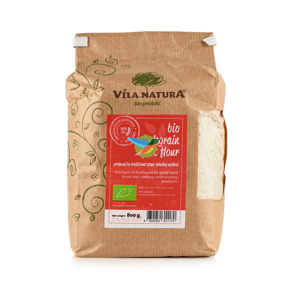 """Мука из спельты жерновая """"Цельнозерновая био"""" - Vila Natura"""