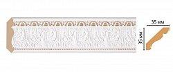 Плинтус потолочный Декомастер Классический белый 155s-115