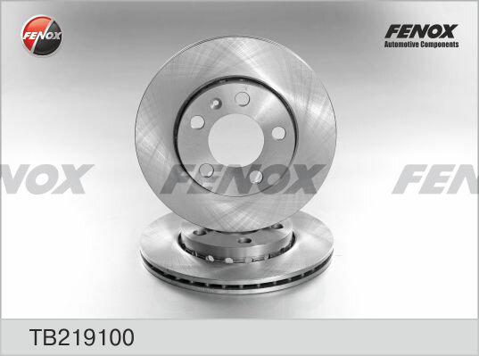 Диск тормозной передний skoda fabia i-ii, vw polo 01-05, 05- tb219100 FENOX арт. TB219100