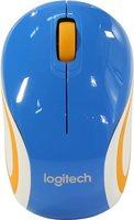 Мышь Logitech Wireless Mini Mouse M187 Blue-Orange USB