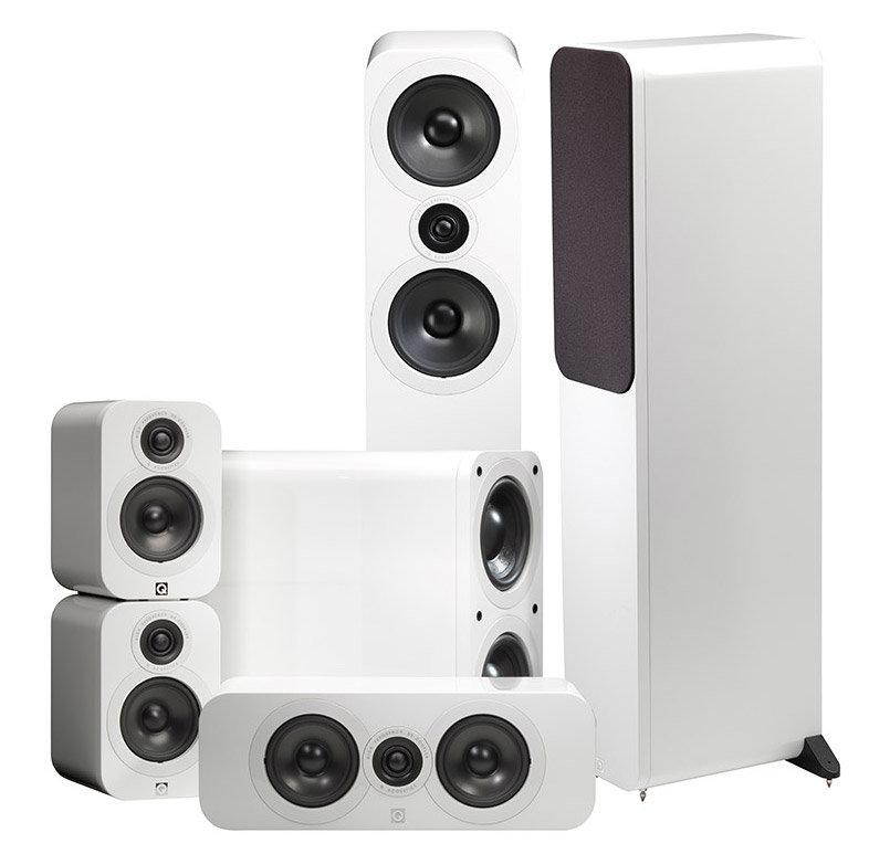 Комплект акустики Q Acoustics Q3050 5.1 White Lacquer