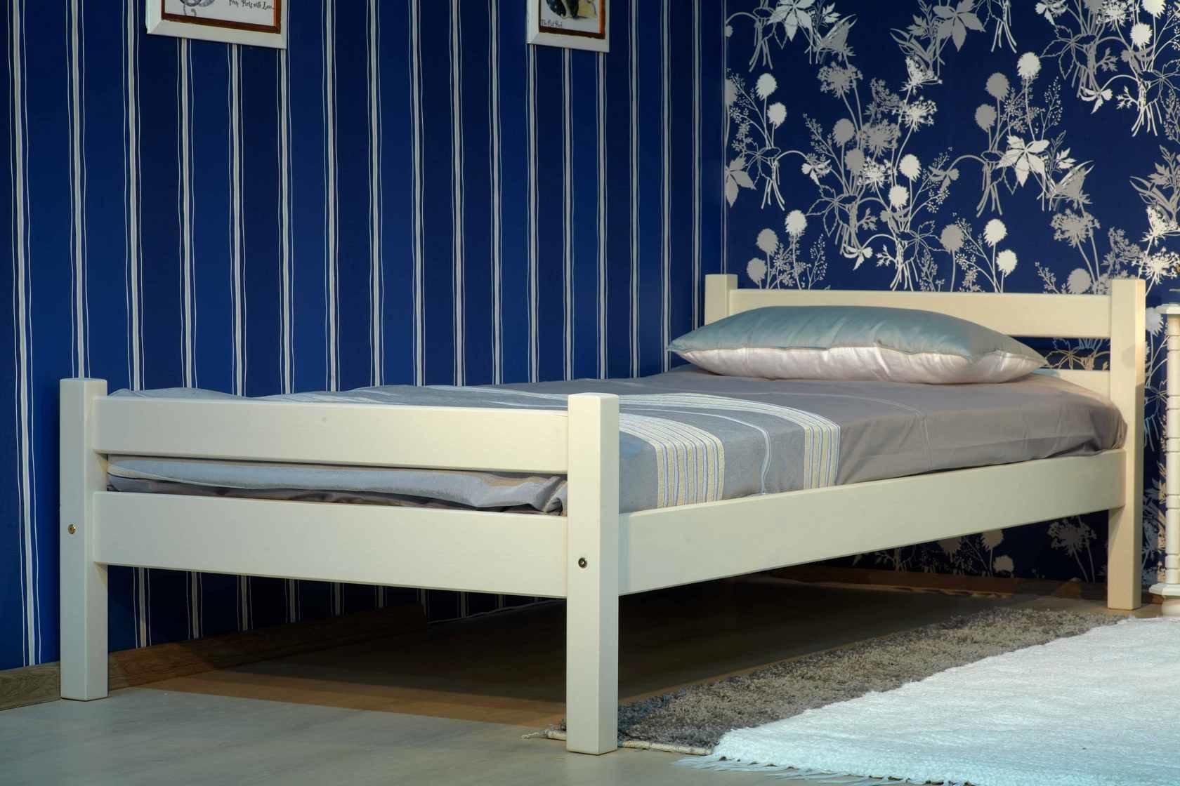 Односпальная кровать Timberica Классик Бежевый, Спальное место 900 Х 1900 мм