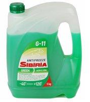 Антифриз зеленый -40с 5кг sibiria Sibiria арт. 800216
