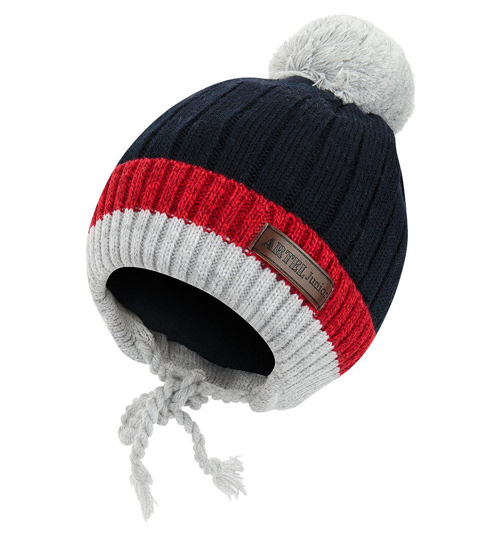 шапка путанкой с помпошкой