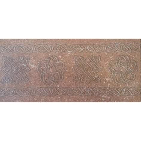 Плитка керамическая Exagres декор-подступенник BROWN 15x33