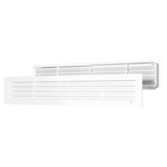 решетка вентиляционная 440х91 переточная абс бел.