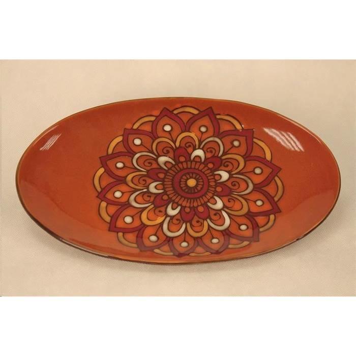 ElffCeramics Посуда сервировочная Elff Ceramics 450-209 Блюдо овальное Павлин красн., 36.5х22.5см