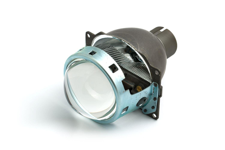 "Биксеноновая линза Optima Q5 Lens 3.0"" D2S (аналог модулей Koito Q5) , круглый модуль под лампу D2S 3.0 дюйма без бленды"