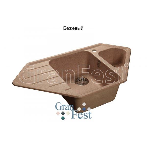 Мойка мраморная GranFest - CORNER GF - C950E 1,5 чаша с крылом 950х500мм бежевый