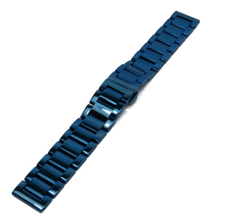 Литой браслет из стали для часов Braslet LSIN33 синий 18мм