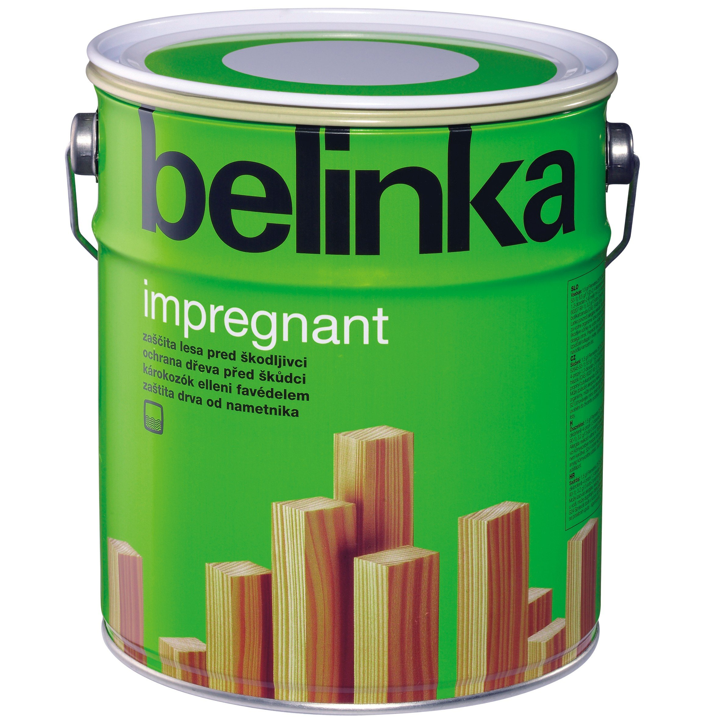 Belinka Impregnant - бесцветная грунтовка-антисептик на водной основе для древесины, 0.75 л., цвет 31 Графитно-серый