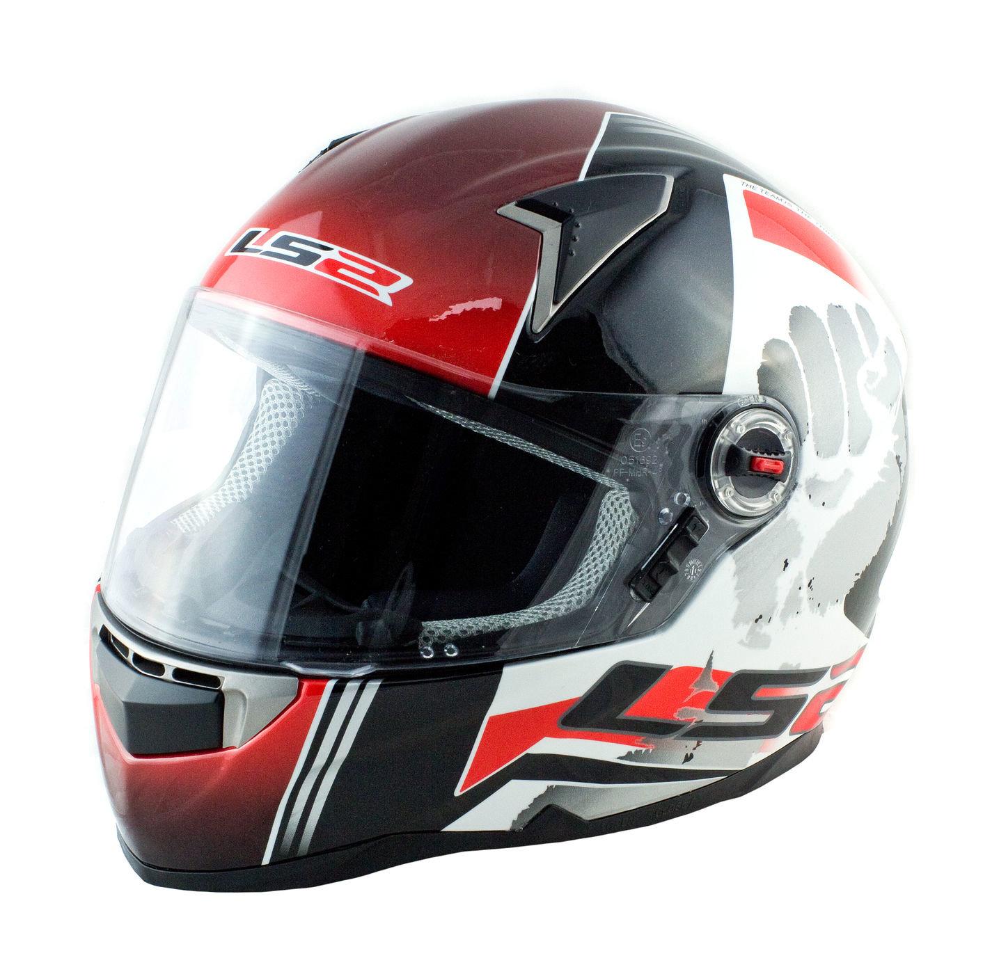 Шлем интеграл LS2 FF396, бело-красный, M art00145223