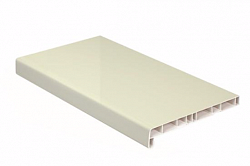 Подоконник ПВХ Crystallit Кремовый (глянцевый) 400мм