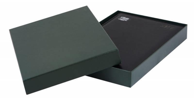 ежедневник Letts (Леттс) Global Deluxe датированный A5 черный натуральная кожа 412 127210