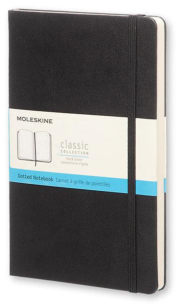 Блокнот Moleskine CLASSIC POCKET 90x140мм 192стр. пунктир твердая обложка фиксирующая резинка черный [mm713]