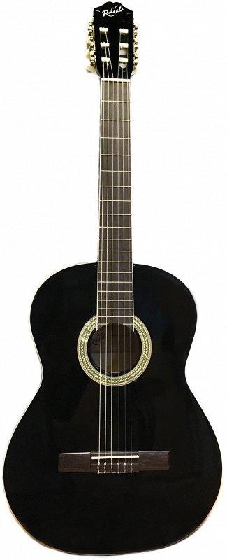 ROCKDALE MODERN CLASSIC 100-BK классическая гитара с анкером, верхняя дека - агатис, нижняя дека и обечайки - агатис, гриф -