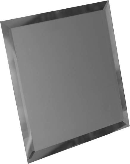 Квадратная зеркальная графитовая матовая плитка с фацетом 10мм КЗГм1-01 18х18