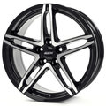 Диски Alutec Poison 7x17 5x114,3 ET38 ЦО70.1 цвет diamond black front polished - фото 1
