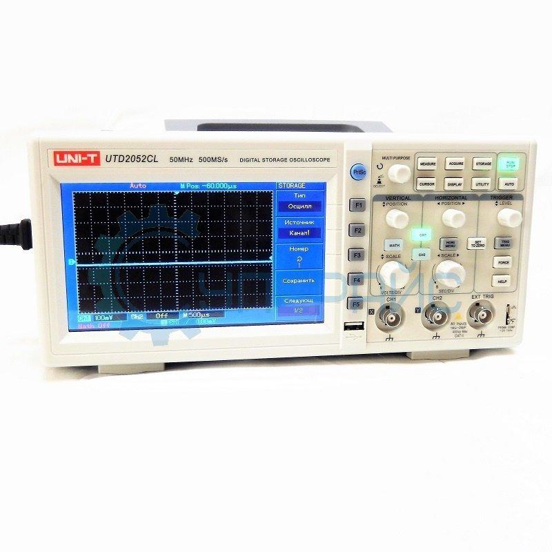 Цифровой осциллограф UNI-T UTD2052CL (2 канала х 50 МГц)