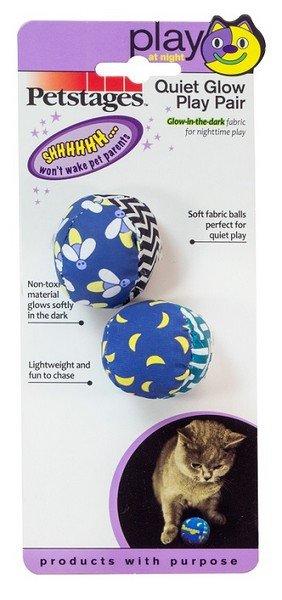 """Игрушки Petstages игрушка для кошек """"Мяч"""" текстиль диаметр 4 см 2 штуки в упаковке"""