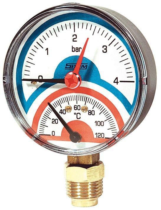 термоманометр 4 бар