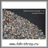 Гравий гранитный фракции 5,0-10,0 мм по 25 кг в мешках