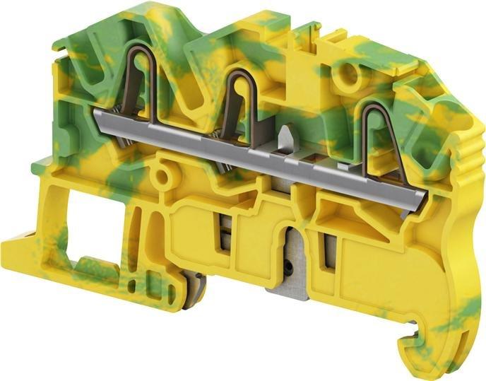 Клеммные соединения Клемма втычная ZK2,5-PE-3P - Земля - желто-зеленая - 2,5 мм2, 3 зажима TYCO