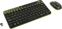 Клавиатура и мышь Logitech Combo MK240 920-008213 black, wireless, USB