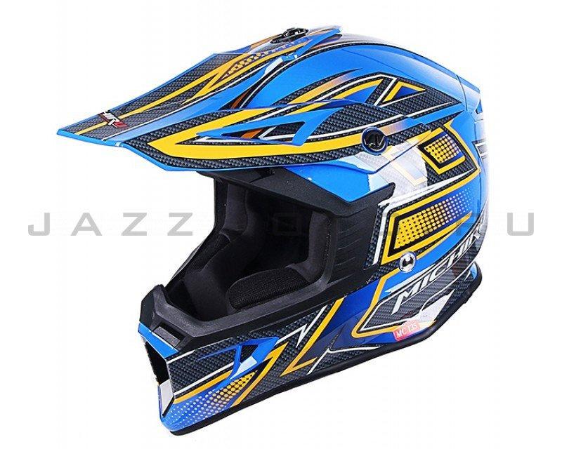 Шлем кросс MICHIRU МС 135 Rush Blue