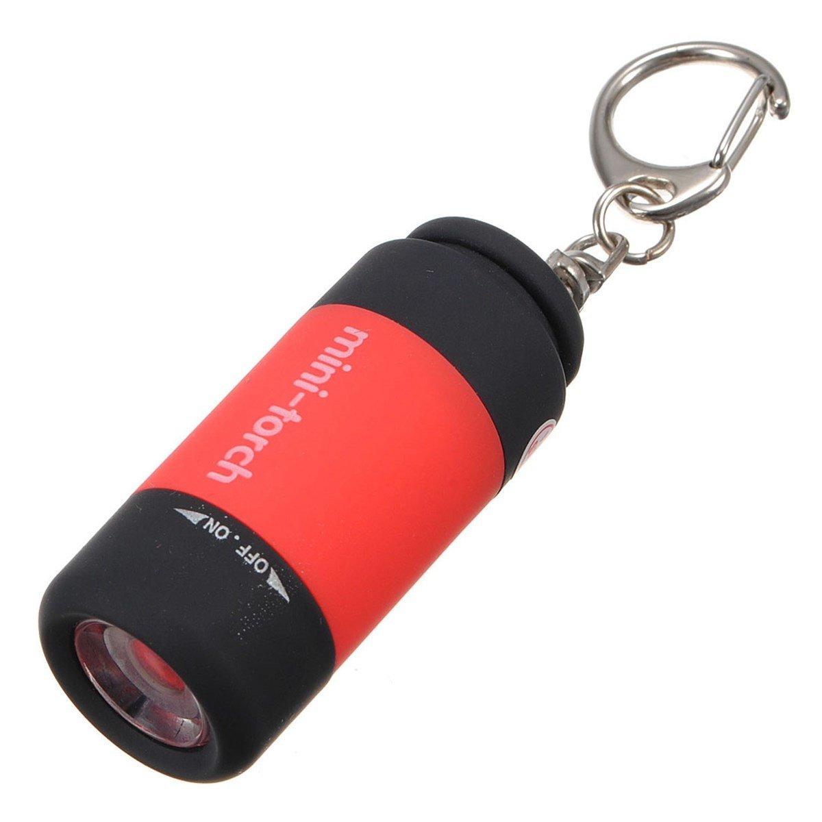 Фонарик - брелок светодиодный MLKR-3U, USB, цвет красный