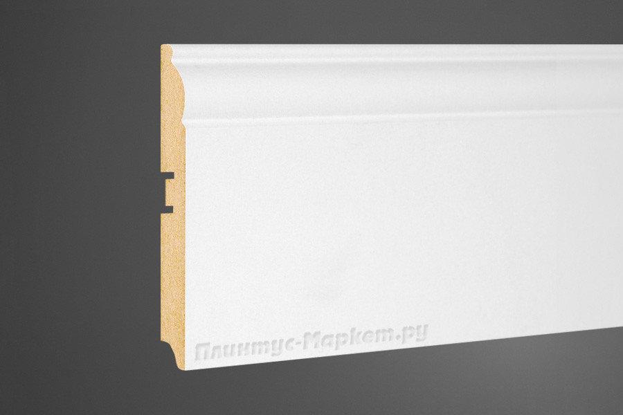 Плинтус PERFECT напольный белый высокий МДФ деревянный 104-100