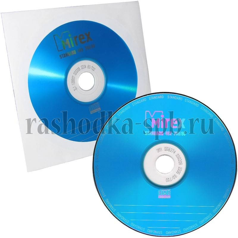 Диск в конверте CD-R Mirex 700Mb 48x Standart (UL120051A8C)
