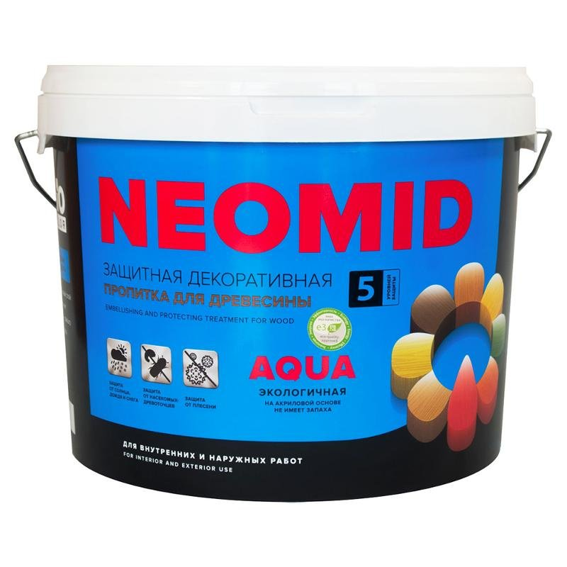Антисептик Neomid Bio Color Aqua, венге, 9 л