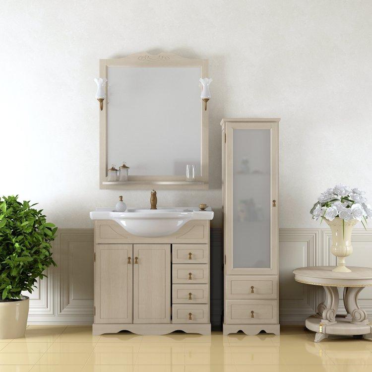 Комплект мебели для ванной Opadiris Клио 70 Орех антикварный