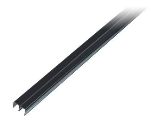 направляющая пвх верхняя черная 6,5х2000мм