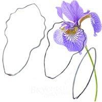 Каттер цветочный набор Ириса лепестки L, ct-42