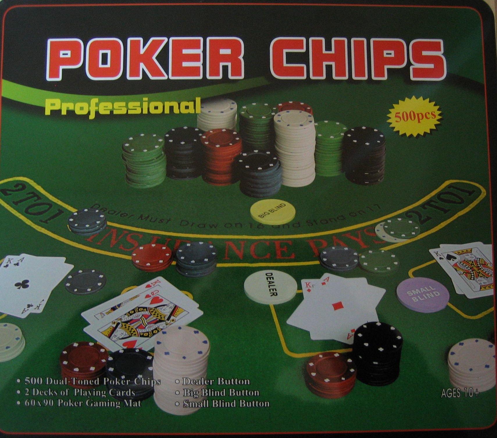 Набор для покера (500 фишек+ 2 колоды карт) 7104MY-115