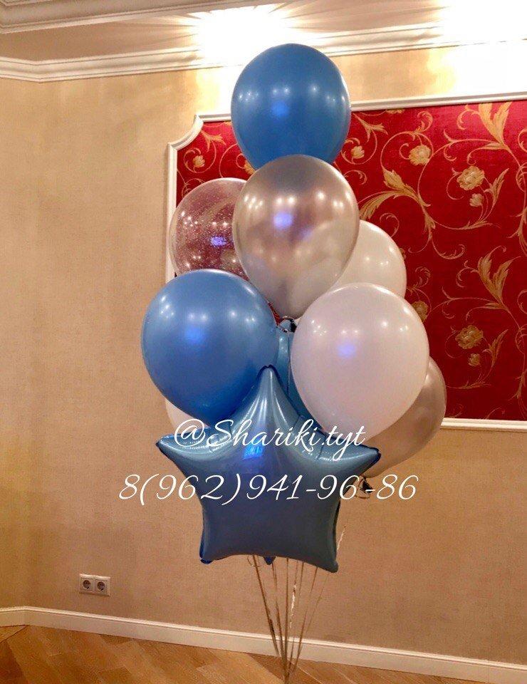Фонтан из воздушных шариков на день рождения