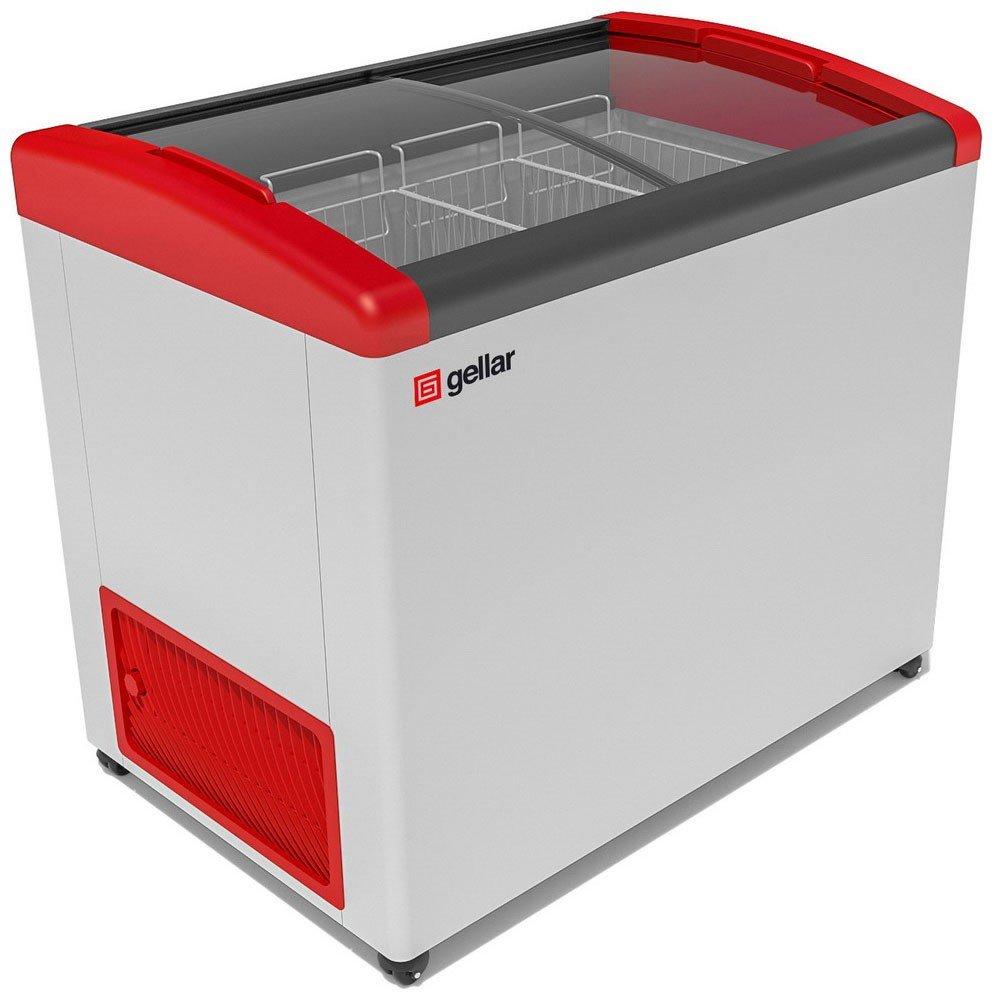 Морозильный ларь Gellar FG 350 E красный