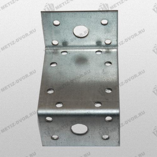 Уголок крепежный Z-образный KUZ 90, оцинкованный 45х90х45х65 Уп (50 шт)